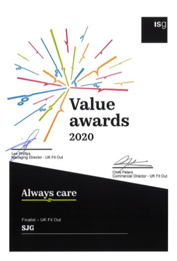 ISG Value Awards 2020