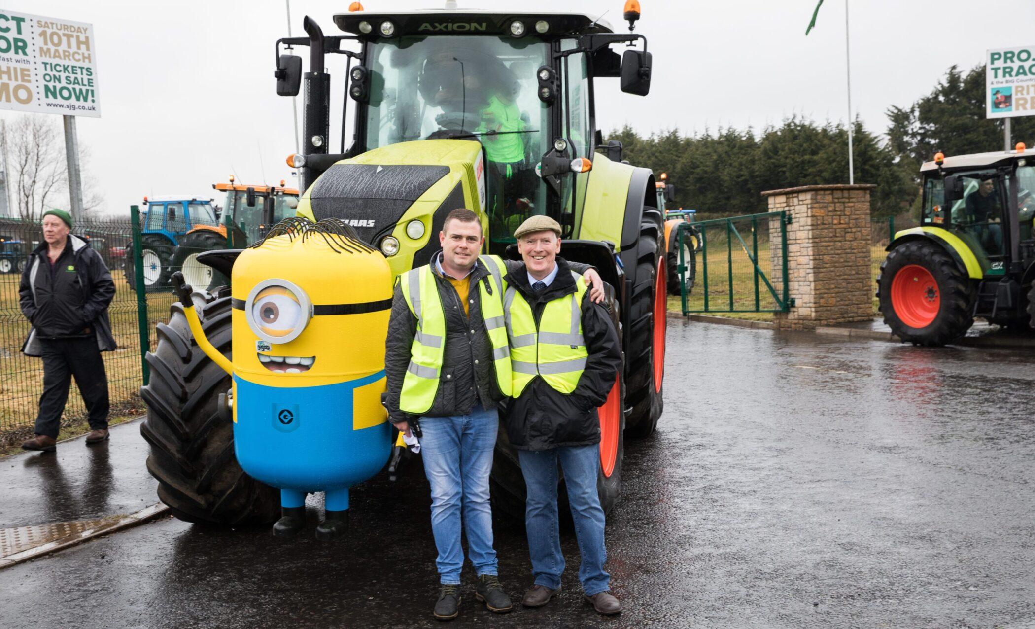 Ciaran and John Bosco O'Hagan at Project Tractor