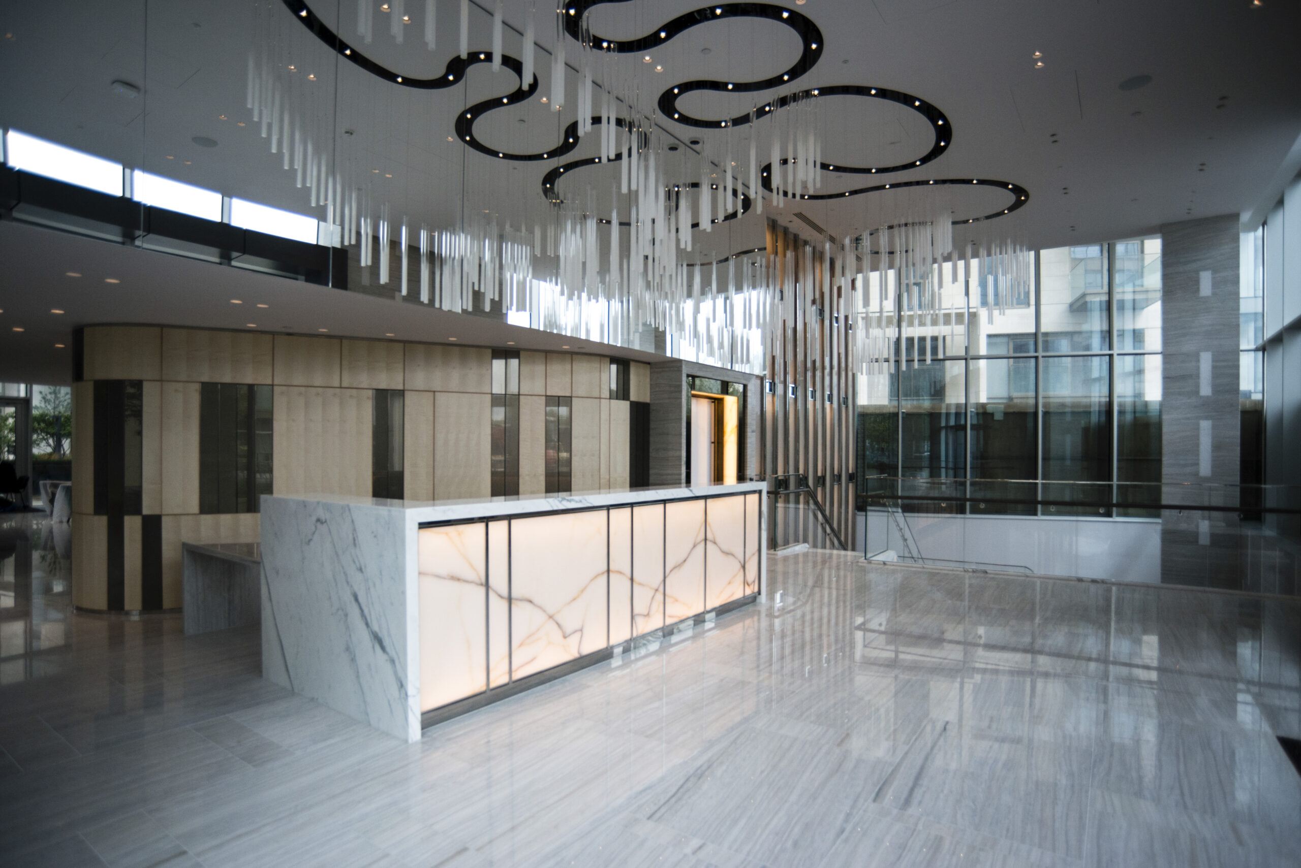 Reception Desk for High-End Residential Project